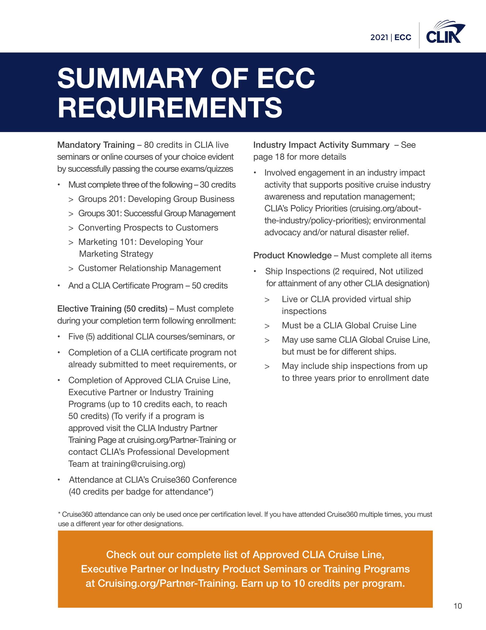 2021 Elite Cruise Counsellor Program - cliaecclogbook2021-1212020-10