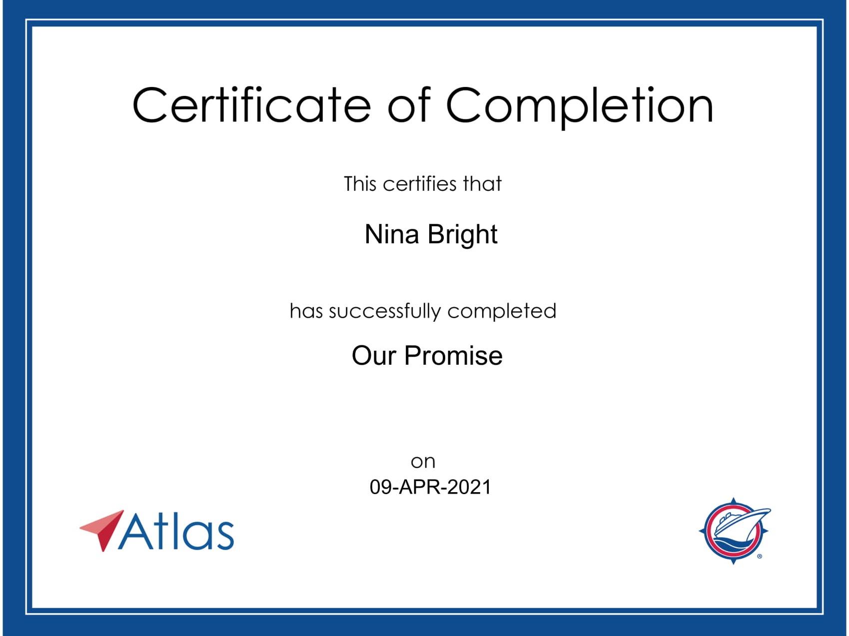 Atlas - Certificate - Our Promise-1