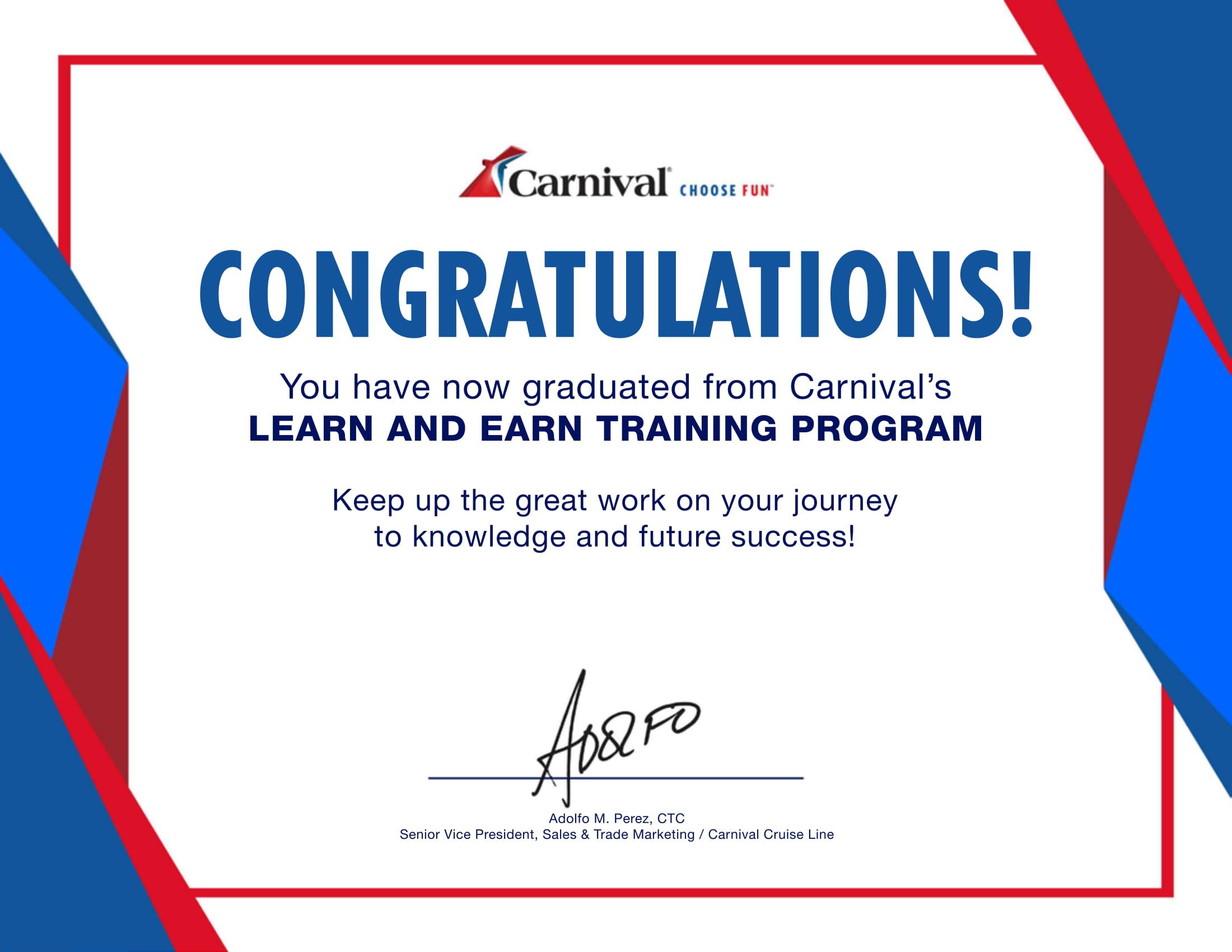 Carnival Cruises LearnAndEarn_Certificate-1
