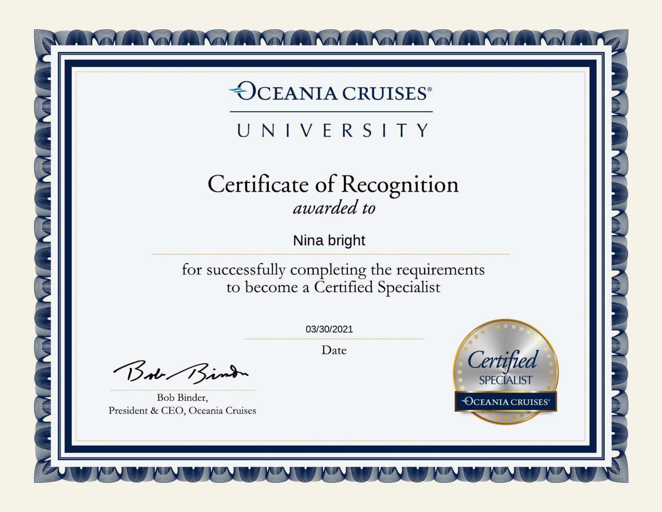 Oceania Certified Specialist Certificate-1